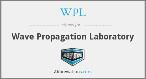 WPL - Wave Propagation Laboratory