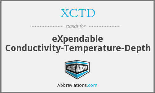 XCTD - eXpendable Conductivity-Temperature-Depth