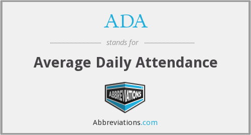 ADA - Average Daily Attendance