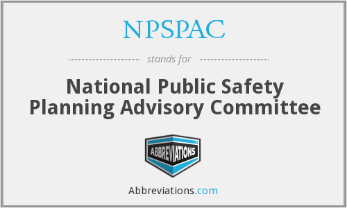 What does NPSPAC stand for?