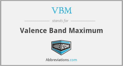 VBM - Valence Band Maximum