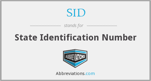 SID - State Identification Number