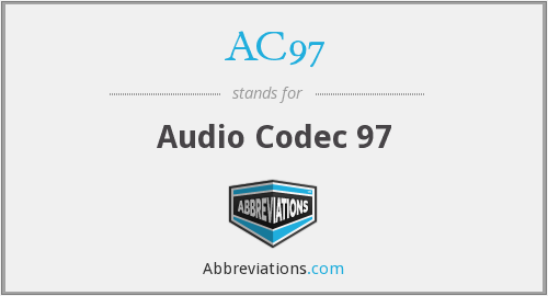 What does AC97 stand for?