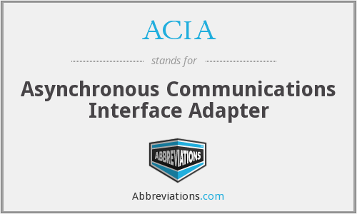 ACIA - Asynchronous Communications Interface Adapter
