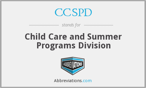 What does CCSPD stand for?