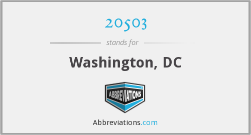 What does 20503 stand for?