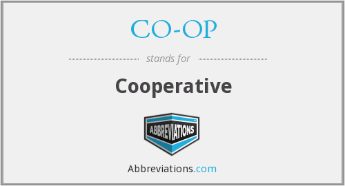 CO-OP - Cooperative