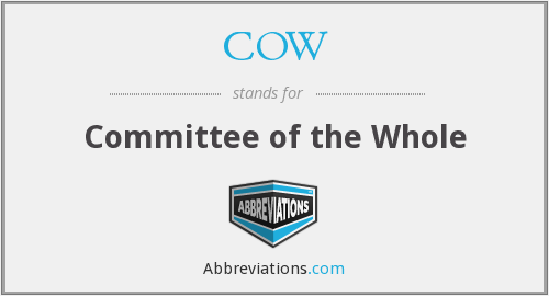 COW - Committee of the Whole