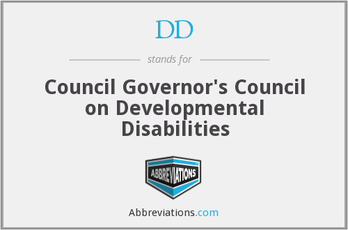 DD - Council Governor's Council on Developmental Disabilities