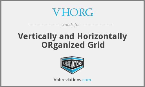 What does VHORG stand for?