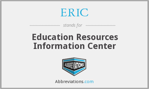 ERIC - Education Resources Information Center
