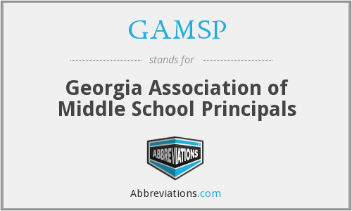 GAMSP - Georgia Association of Middle School Principals