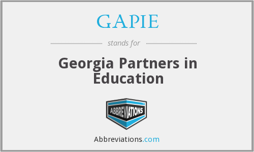 GAPIE - Georgia Partners in Education