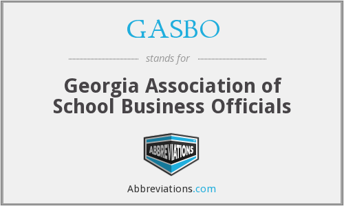 What does GASBO stand for?