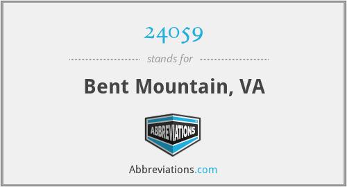 24059 - Bent Mountain, VA