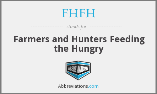 FHFH - Farmers and Hunters Feeding the Hungry