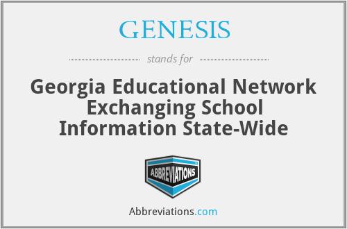 GENESIS - Georgia Educational Network Exchanging School Information State-Wide