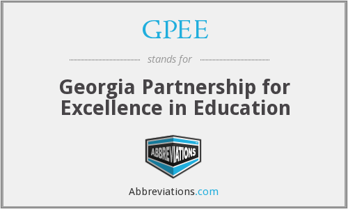 GPEE - Georgia Partnership for Excellence in Education