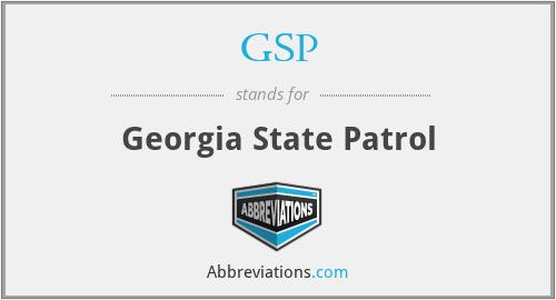 GSP - Georgia State Patrol