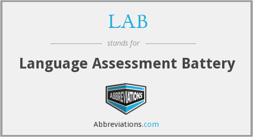 LAB - Language Assessment Battery