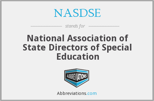 NASDSE - National Association of State Directors of Special Education
