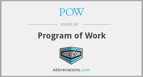 POW - Program of Work