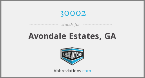 30002 - Avondale Estates, GA