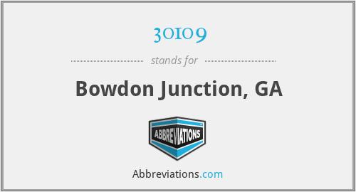 30109 - Bowdon Junction, GA