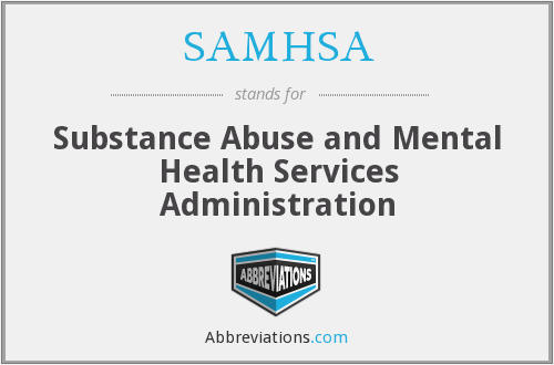 What does SAMHSA stand for?