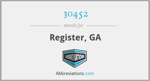 30452 - Register, GA