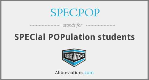 What does SPECPOP stand for?