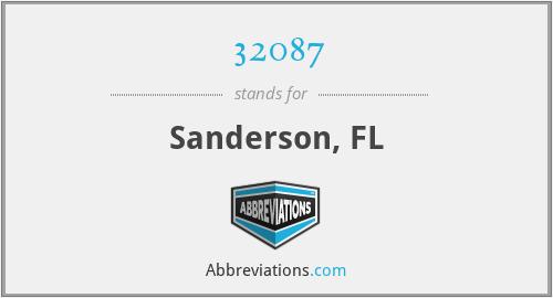 32087 - Sanderson, FL
