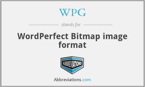WPG - WordPerfect Bitmap image format