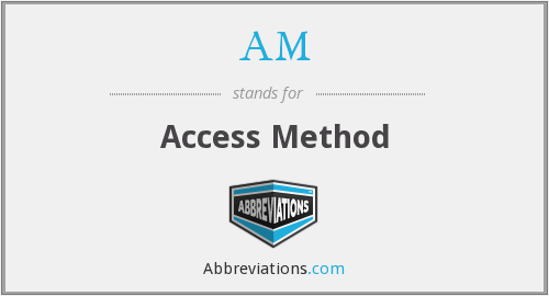 AM - Access Method