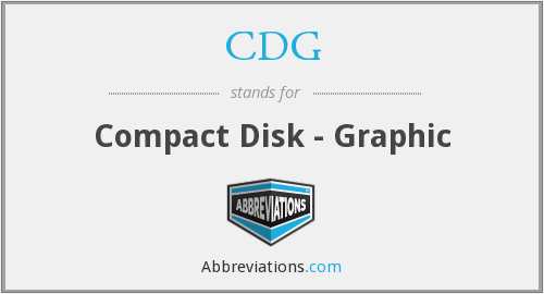 CDG - Compact Disk - Graphic