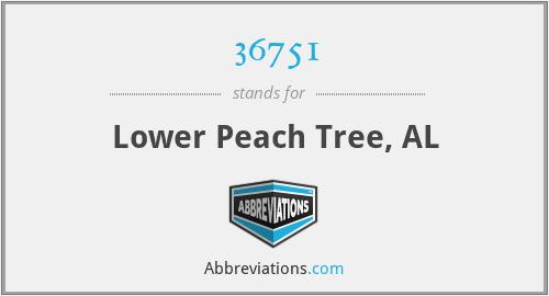 36751 - Lower Peach Tree, AL