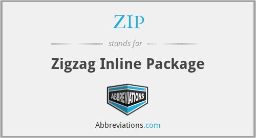 ZIP - Zigzag Inline Package