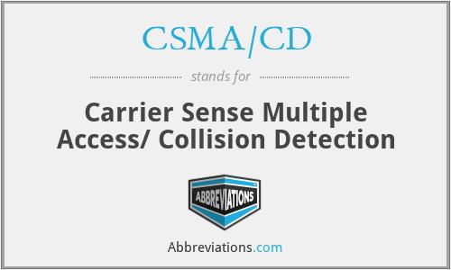 CSMA/CD - Carrier Sense Multiple Access/ Collision Detection