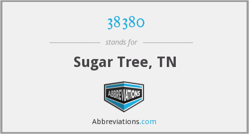 38380 - Sugar Tree, TN