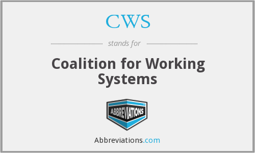 CWS - Coalition for Working Systems