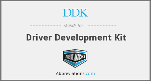What does DDK stand for?