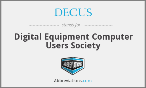 What does DECUS stand for?