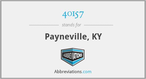 40157 - Payneville, KY