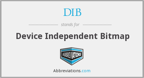 DIB - Device Independent Bitmap