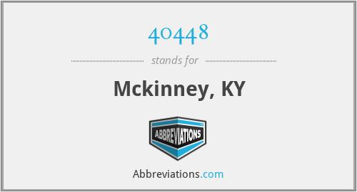 40448 - Mckinney, KY