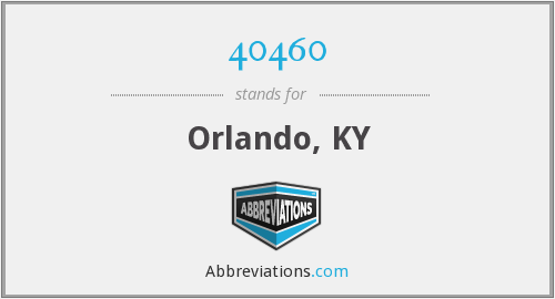 What does 40460 stand for?