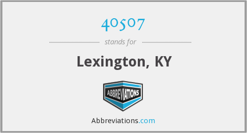 40507 - Lexington, KY