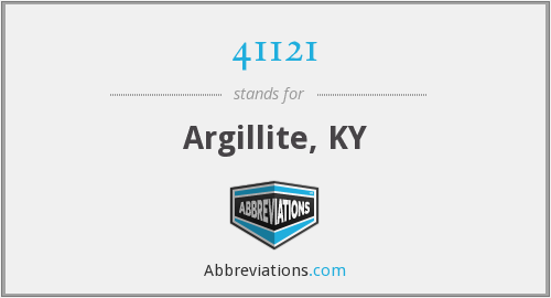 41121 - Argillite, KY