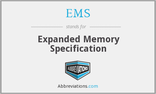 EMS - Expanded Memory Specification