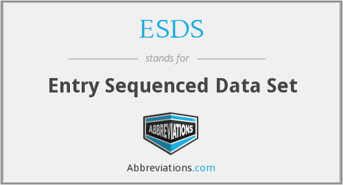 ESDS - Entry Sequenced Data Set